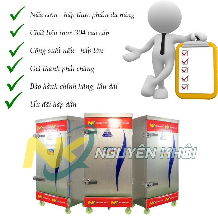 Những lí do bạn nên chọn mua tủ cơm công nghiệp của Nguyên Khôi