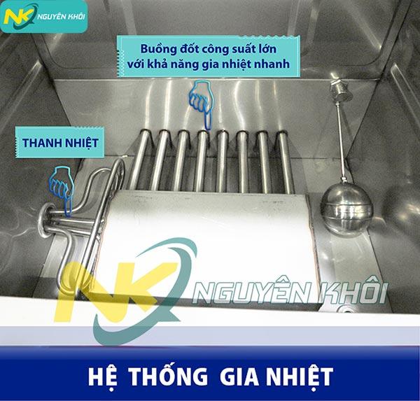 Hệ thống gia nhiệt tủ cơm công nghiệp điện gas