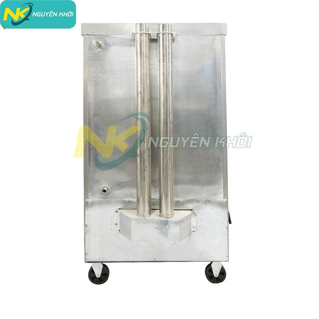 Cấu tạo mặt sau tủ cơm công nghiệp 8 khay gas + điện