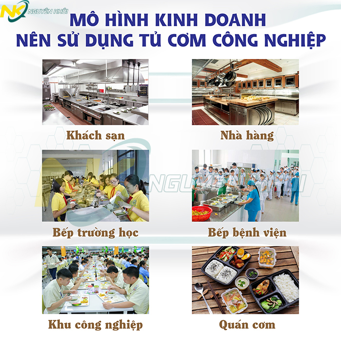 Tủ nấu cơm công nghiệp - giải pháp nấu cơm ngon số lượng lớn