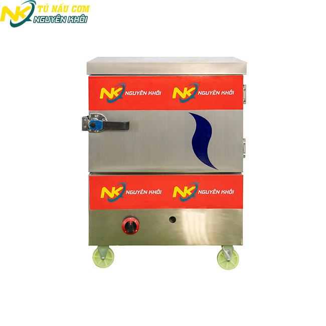Tủ cơm công nghiệp 4 khay tích hợp điện + gas