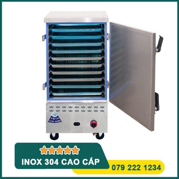Tủ nấu cơm công nghiệp 10 khay điện gas