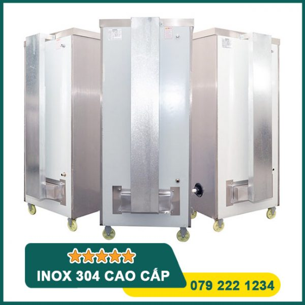 Tủ cơm 12 khay gas điện tích hợp