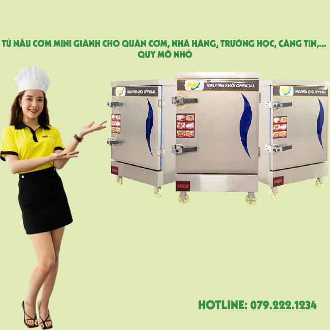 Tủ nấu cơm mini giành cho các bếp ăn công nghiệp quy mô nhỏ