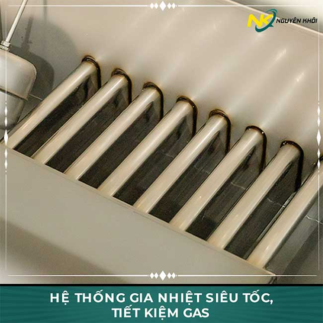 Hệ thống gia nhiệt tủ cơm công nghiệp bằng gas