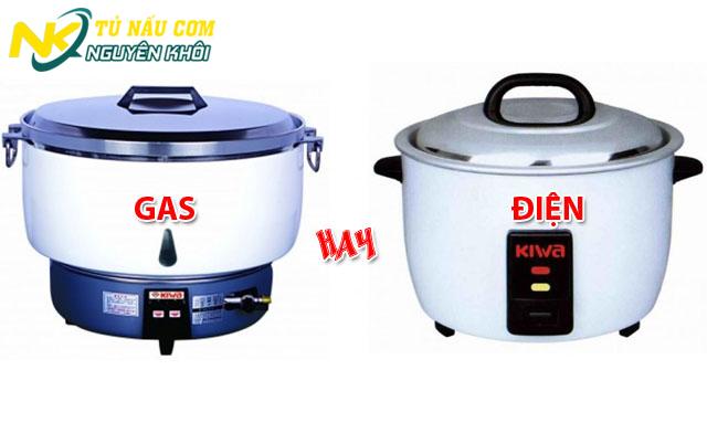 Chọn mua nồi nấu cơm công nghiệp gas hay điện