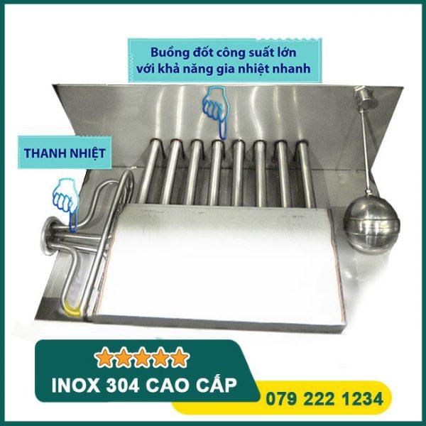 Hệ thống gia nhiệt tủ nấu cơm Gas + Điện