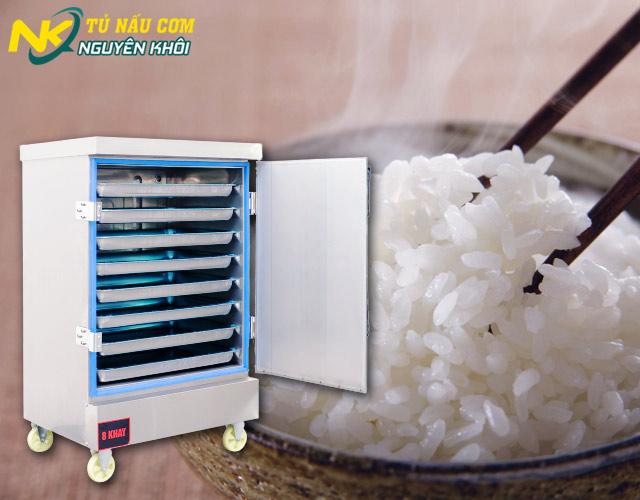 Nấu cơm ngon bằng tủ nấu cơm công nghiệp